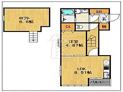 [テラスハウス] 福岡県福岡市中央区平尾 の賃貸【/】の間取り