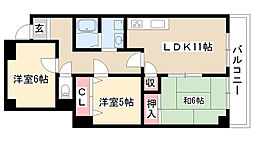 愛知県名古屋市昭和区吹上町1丁目の賃貸マンションの間取り