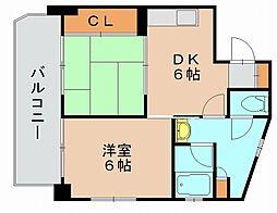 エスポワール箱崎宮前[4階]の間取り