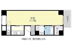 タカラハウス四ツ橋[9階]の間取り