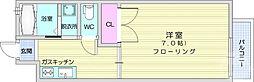 JR東北本線 岩沼駅 徒歩20分の賃貸アパート 2階1Kの間取り