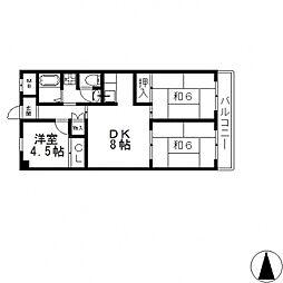 第2東大阪村橋マンション[604号室号室]の間取り