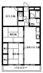 アメニティハウス1・2[2-102号室]の間取り