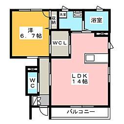 サンループ D[1階]の間取り