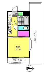 マザール平和台[4階]の間取り