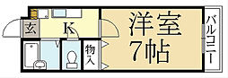 レザンス高縄[2階]の間取り