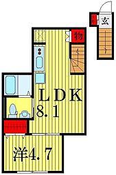 仮)annex四ツ木[3階]の間取り