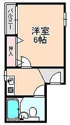 アガサキハイツ岡町[103号室]の間取り