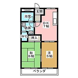プリベールSKY[1階]の間取り