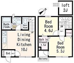(仮称)鶴ヶ丘新築アパート[103号室]の間取り