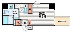 アクアプレイス北浜[7階]の間取り