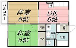 千葉県千葉市中央区星久喜町の賃貸アパートの間取り