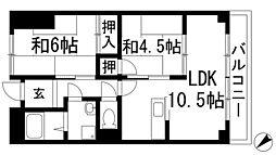 ガーデンシティ笹部[2階]の間取り