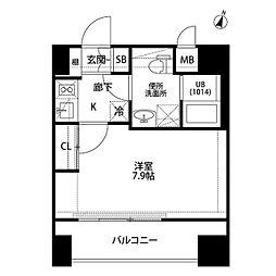 プレール・ドゥーク平和島[1101号室]の間取り
