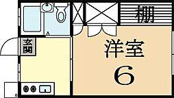 シティハイツ久津川[2階]の間取り