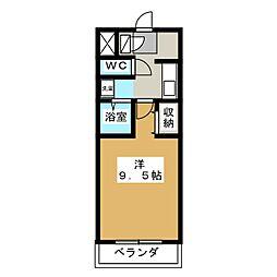 A・City牛田[5階]の間取り