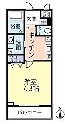 JR中央線 四ツ谷駅 徒歩6分の賃貸マンション 4階1Kの間取り