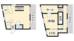 オーズハイツ新神戸 3階1SLDKの間取り