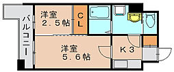 グランフォーレ箱崎ステーションプラザ[8階]の間取り