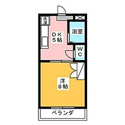 マンションエクシードVI[1階]の間取り