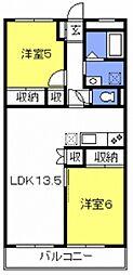 ハイツ与野[305号室号室]の間取り