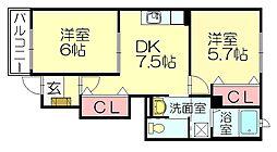 ドリーム宇美東[1階]の間取り