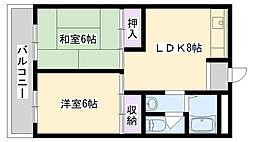 今津マンション[406号室]の間取り