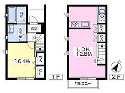 西新宿ガーデンテラス 1階1LDKの間取り