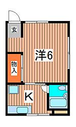 あさひ荘[1階]の間取り