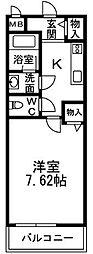 大阪府泉大津市昭和町の賃貸アパートの間取り