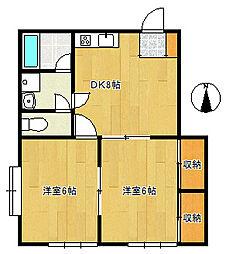 EY Apartment[2階]の間取り