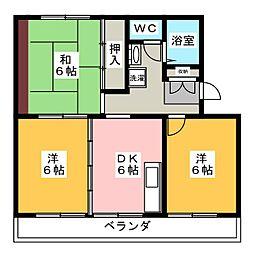 深沢ハイツ[2階]の間取り
