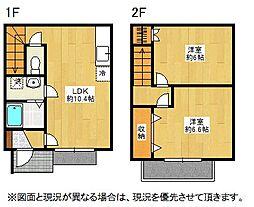 埼玉県鴻巣市屈巣の賃貸アパートの間取り