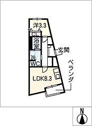 仮)新栄プロジェクト[4階]の間取り
