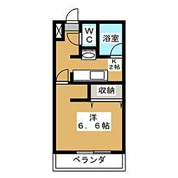ルミエール上野[2階]の間取り