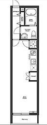 JR山手線 恵比寿駅 徒歩7分の賃貸マンション 1階ワンルームの間取り