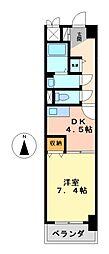 グランシャリオ名駅南[5階]の間取り