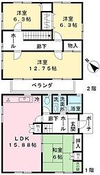 [一戸建] 東京都多摩市聖ヶ丘3丁目 の賃貸【/】の間取り