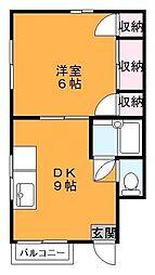 東京都江東区森下4丁目の賃貸マンションの間取り