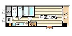 クラウンハイム北心斎橋フラワーコート[5階]の間取り