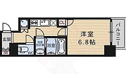阪急神戸本線 十三駅 徒歩3分の賃貸マンション 9階1Kの間取り