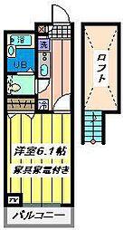 埼玉県戸田市南町の賃貸マンションの間取り