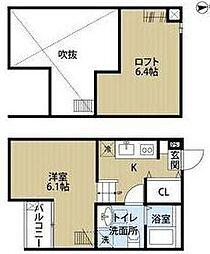 uno新松戸[1階]の間取り