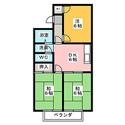 レジデンス101[2階]の間取り