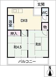 コーポ桜井[2階]の間取り