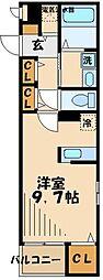 多摩都市モノレール 大塚・帝京大学駅 徒歩5分の賃貸マンション 3階1Kの間取り