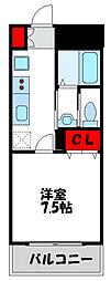 JR鹿児島本線 教育大前駅 徒歩10分の賃貸マンション 6階1Kの間取り