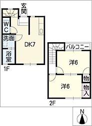 メゾン プレージュ2[1階]の間取り
