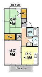 東京都西東京市中町3丁目の賃貸アパートの間取り