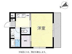 京王線 つつじヶ丘駅 徒歩18分の賃貸アパート 2階1Kの間取り